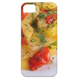 Top view of the vegetarian dish of organic potato iPhone 5 case