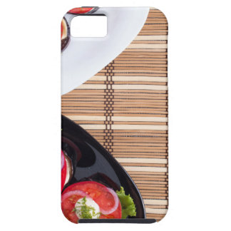 Top view of the vegetarian dishes stewed eggplant iPhone 5 covers