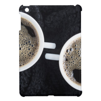 Top view of two small cups of coffee iPad mini cover