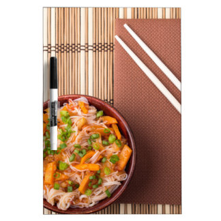 Top view on a portion of rice vermicelli hu-teu Dry-Erase boards
