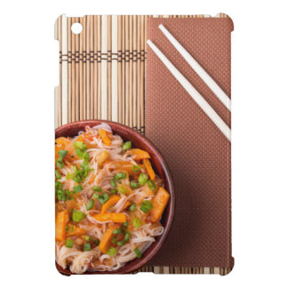 Top view on a portion of rice vermicelli hu-teu iPad mini cases