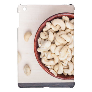 Top view on raw cashew nuts for vegetarian food cover for the iPad mini