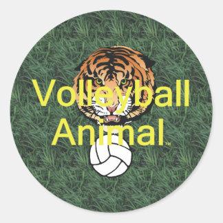 TOP Volleyball Animal Classic Round Sticker