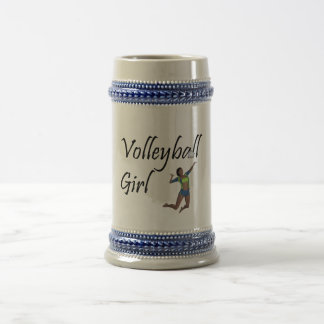 TOP Volleyball Girl Beer Stein