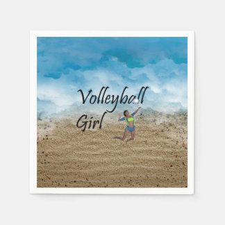 TOP Volleyball Girl Disposable Napkins