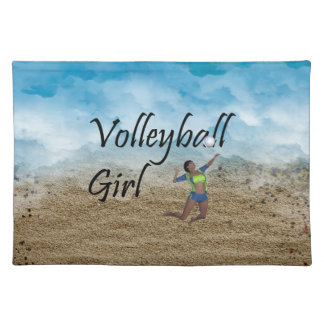 TOP Volleyball Girl Placemat