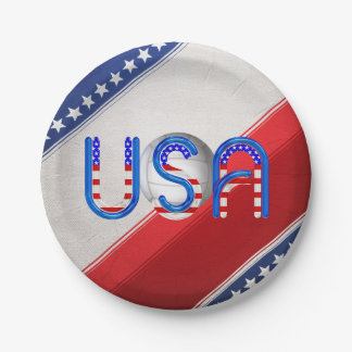 TOP Volleyball in the USA 7 Inch Paper Plate
