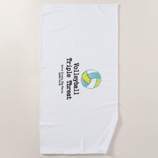 TOP Volleyball Triple Threat Beach Towel