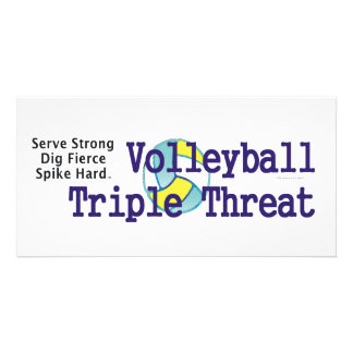 TOP Volleyball Triple Threat Personalized Photo Card