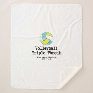 TOP Volleyball Triple Threat Sherpa Blanket
