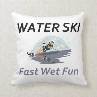TOP Water Ski Throw Pillow