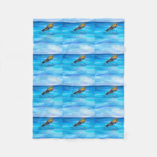 TOP Water Skiing Fleece Blanket