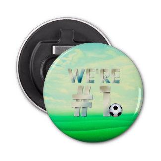 TOP We're #1 Soccer Bottle Opener