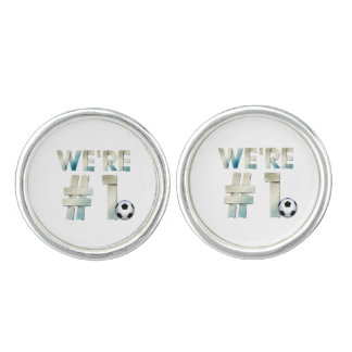 TOP We're #1 Soccer Cuff Links