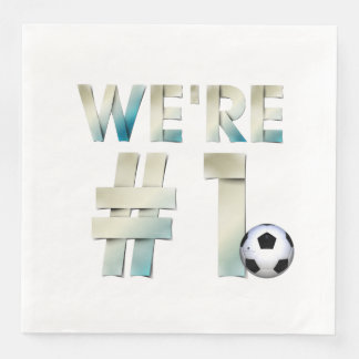 TOP We're #1 Soccer Disposable Napkin