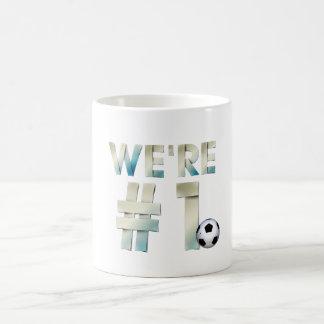 TOP We're #1 Soccer Mug