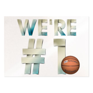 TOP We're Number One Hoops Business Card Templates