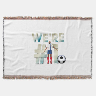 TOP We're Number One Throw Blanket