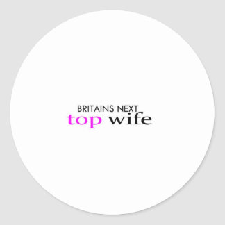 top wife classic round sticker