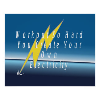 TOP Workout Electricity Poster