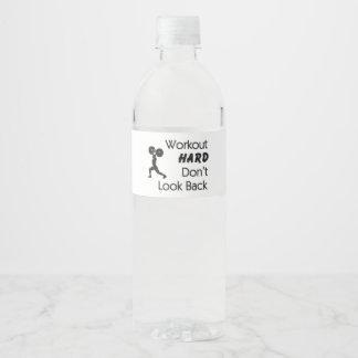 TOP Workout Hard Water Bottle Label