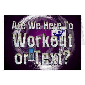 TOP Workout or Text Card