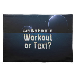 TOP Workout or Text Placemat