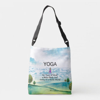 TOP Yoga Slogan Crossbody Bag