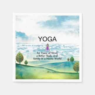 TOP Yoga Slogan Disposable Napkin