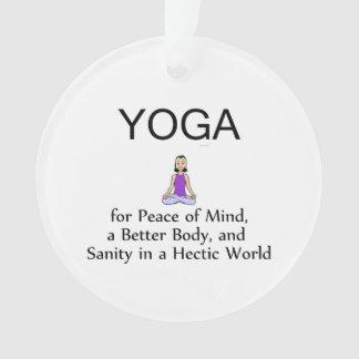 TOP Yoga Slogan Ornament