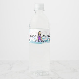 TOP Yoga Slogan Water Bottle Label