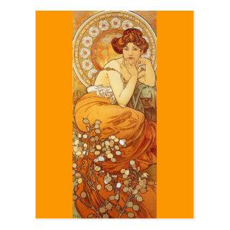 Topaz - Art Nouveau Postcard