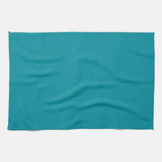Topaz Blue Personalized Aqua Teal Color Background Kitchen Towel