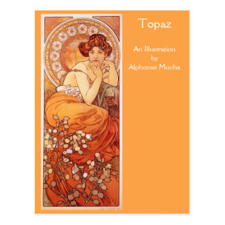 Topaz by Alphonse Mucha Postcard