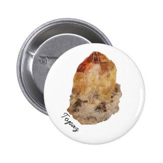 Topaz Crystal Button Pin
