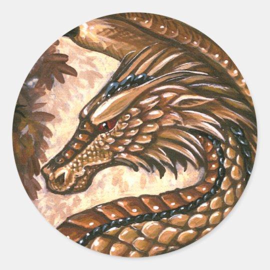 Topaz Dragon Sticker Sheet