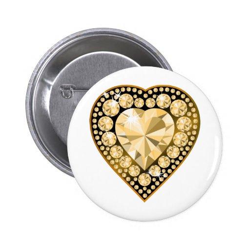 Topaz Gem Heart Button