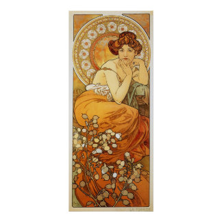 Topaz Illustration by Alphonse Mucha Poster
