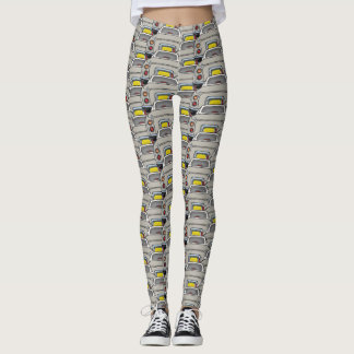 Topaz Mist Figaro Car Convoy Traffic Leggings