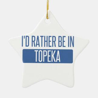 Topeka Ceramic Star Ornament