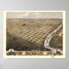 Topeka Kansas 1869 Panoramic Map Poster