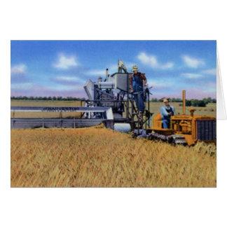 Topeka Kansas Harvesting Wheat Card