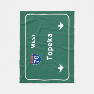 Topeka Kansas ks Interstate Highway Freeway : Fleece Blanket