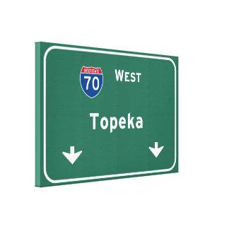 Topeka Kansas ks Interstate Highway Freeway : Gallery Wrap Canvas