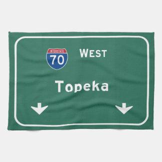 Topeka Kansas ks Interstate Highway Freeway : Towel