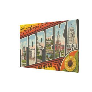 Topeka, KansasLarge Letter ScenesTopeka, KA 2 Gallery Wrap Canvas