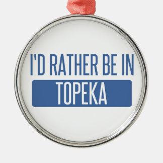 Topeka Silver-Colored Round Ornament