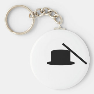 Tophat And Wand Keychain