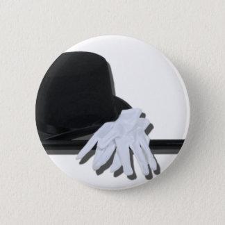 TopHatBlackCaneWhiteGloves073011 2 Inch Round Button