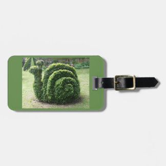 Topiary garden snail baggage label luggage tag
